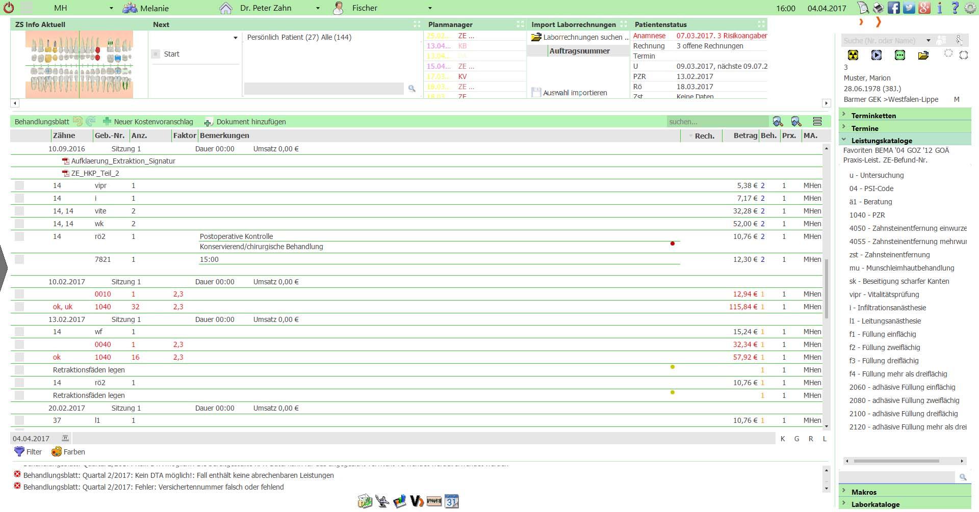 VISInext Behandlungsblatt / Patientenakte - BDV Branchen-Daten-Verarbeitung GmbH