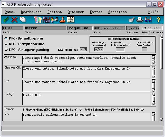 Kieferorthopädie; KFO-Antrag VISIdent Add-Ons - BDV Branchen-Daten-Verarbeitung