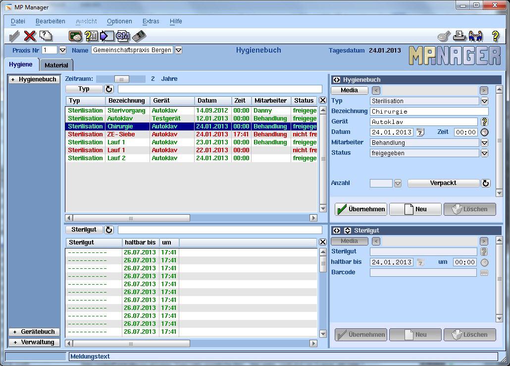 MP-Manager Zahnarztsoftware MP-Manager Hygienebuch VISIdent Complete - BDV Branchen-Daten-Verarbeitung