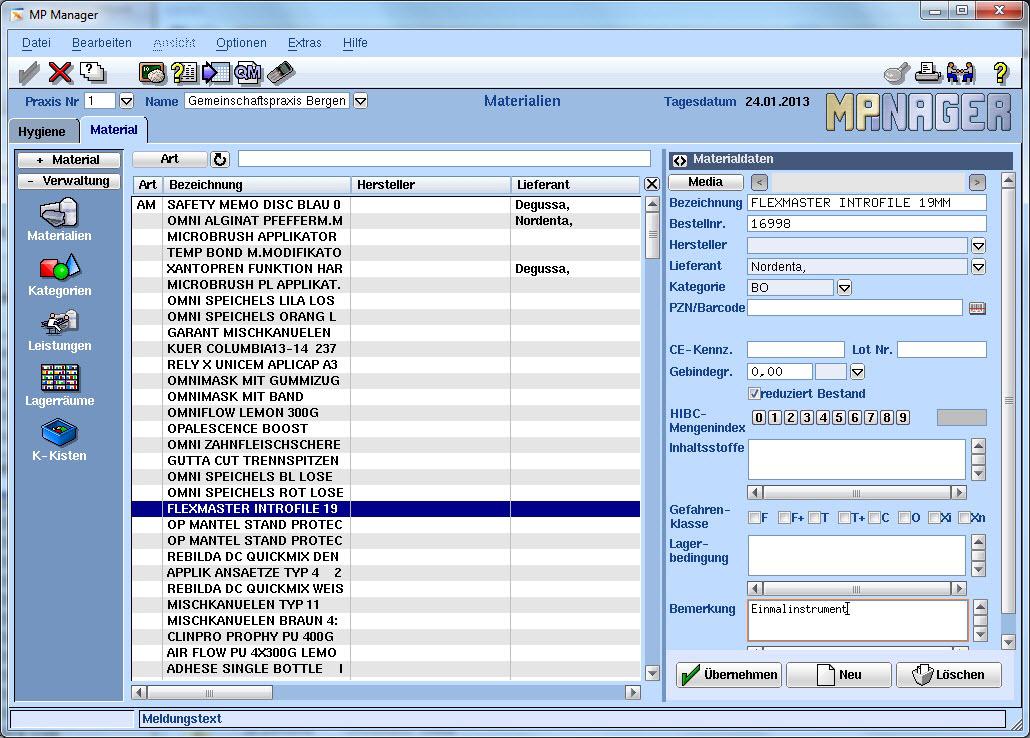 MP-Manager Zahnarztsoftware MP-Manager VISIdent Complete - BDV Branchen-Daten-Verarbeitung