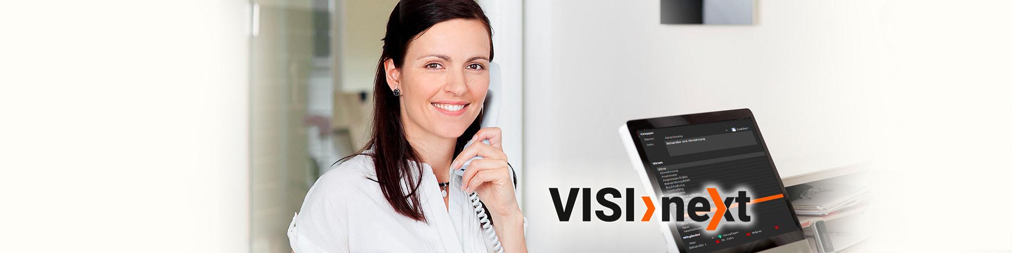 Slider Praxismanager Rechteverwaltung - VISInext BDV GmbH