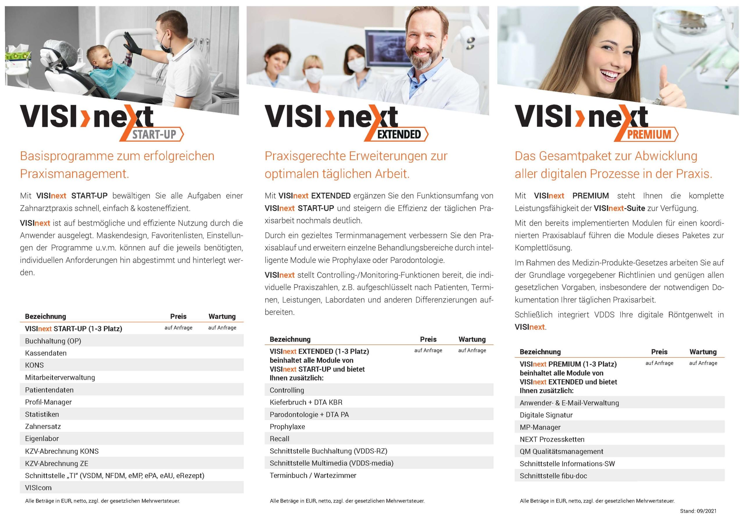 VISInext Flyer - Praxismanagement-Software