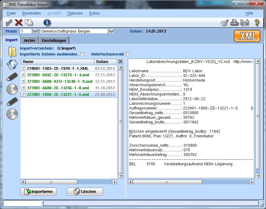 KZV Abrechnung; VISIdent Abrechnung; VISIdent - BDV Branchen-Daten-Verarbeitung